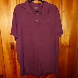 American Eagle NWT Polo Shirt XXL Burgundy